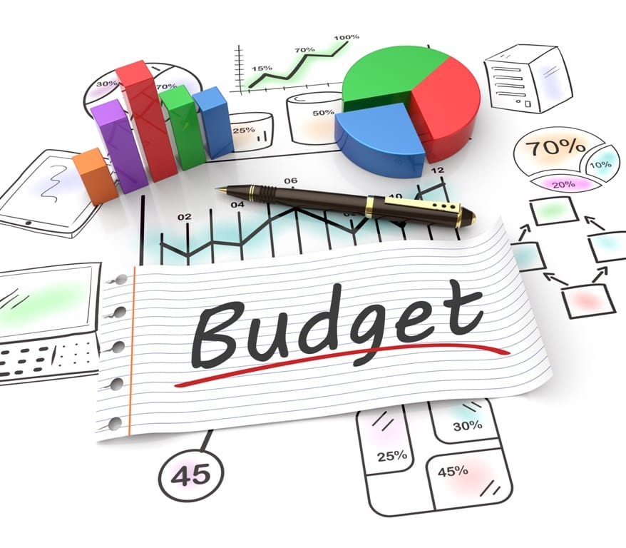 planning your IT budget written on paper with charts around