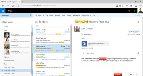 Outlook Online Microsoft Exchange Screenshot