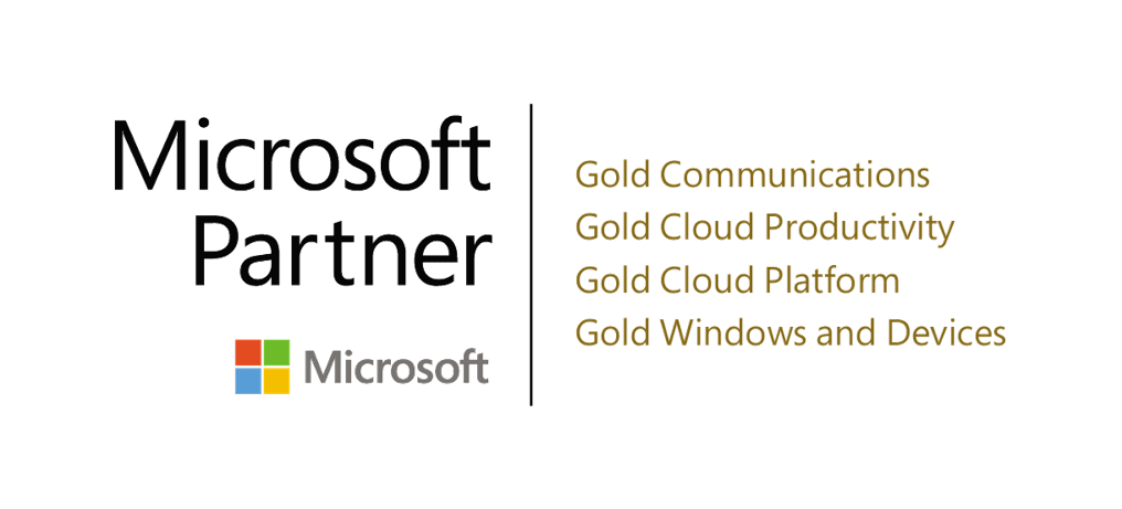 PEI 4 time Microsoft Gold Partner logo