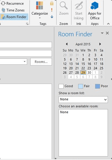 Enabling Room Lists In The Room Finder In Outlook 2010
