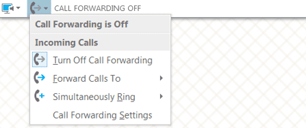 skype for business call forwarding screenshot