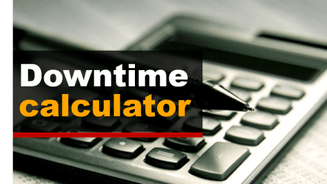 downtime calculator words