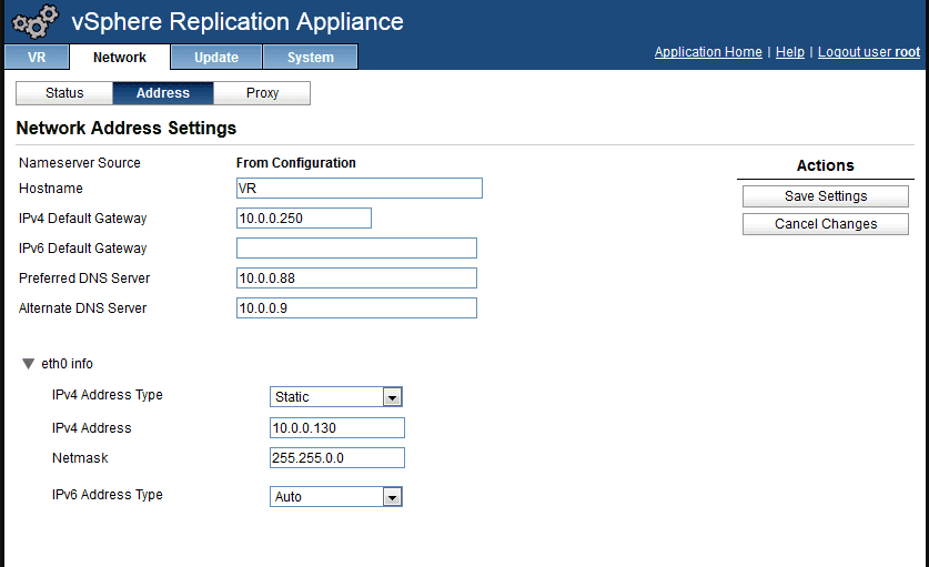 vSphere Replication Appliance