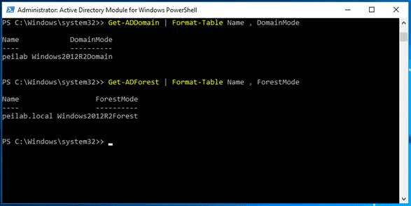 Server 2016 Lowering Levels in PowerShell step 3