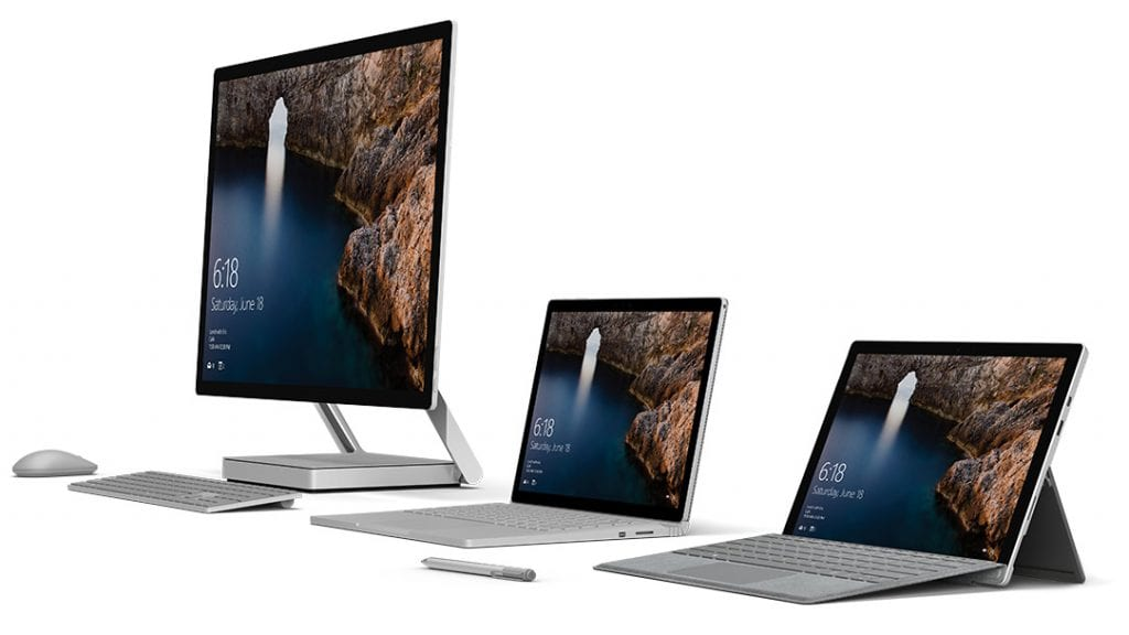 Microsoft Surface Product Line Up