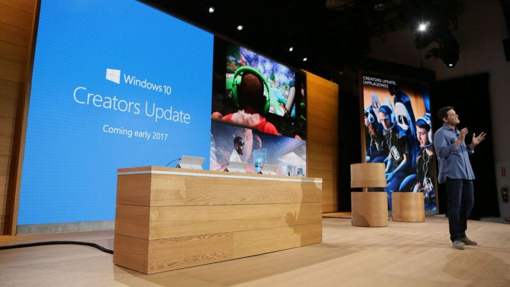 presentation of Creators Update