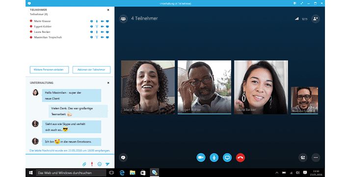 skype for business create group conversation and