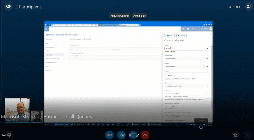 Skype for Business Online Call Queues