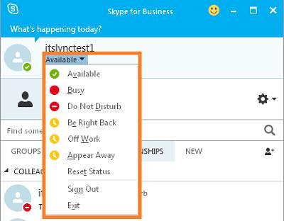 Skype for Business Presence