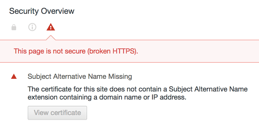 With Chrome 58 Common Name In Ssl Certificates Finally Dies Pei