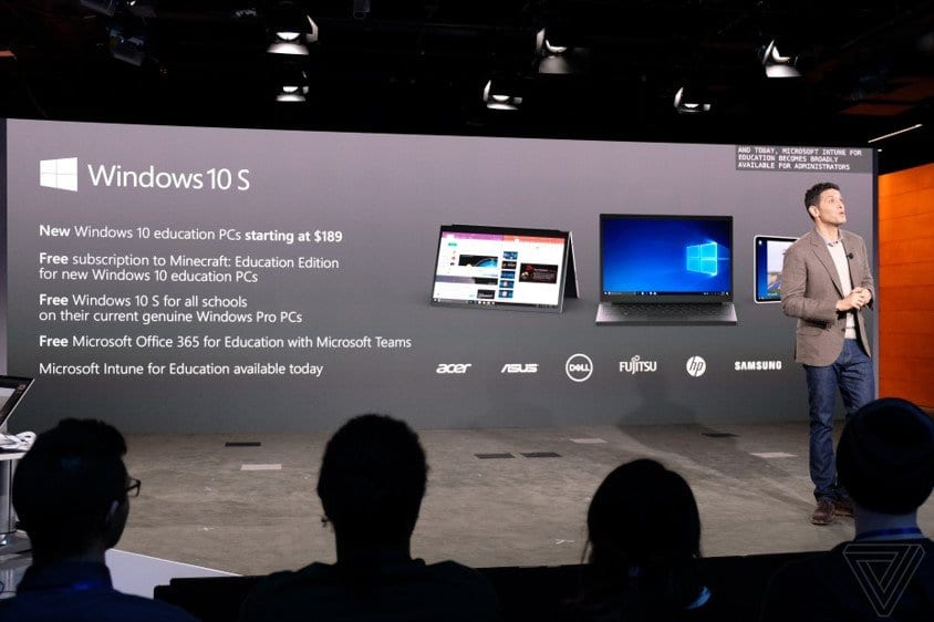 Windows 10 S conference picture