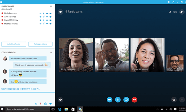 Skype for Business Phone Call Screenshot