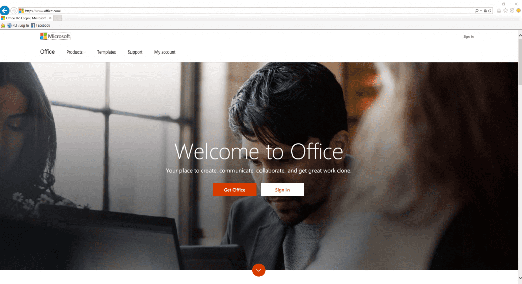 Office 365 Licensing office.com screenshot