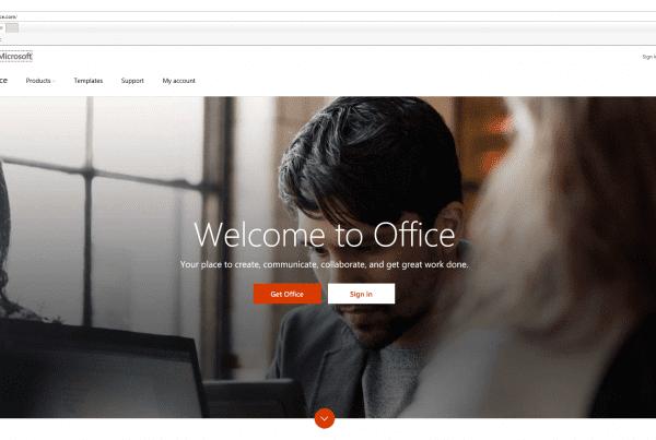 Office 365 Licensing office.com screenshot