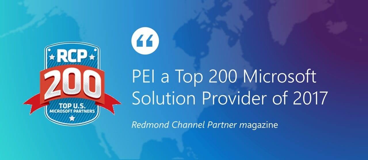 PEI top 200 Microsoft Partner by Redmond Channel Partner
