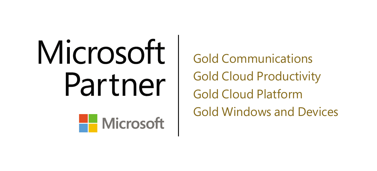 PEI 4 time Microsoft Gold Partner logo