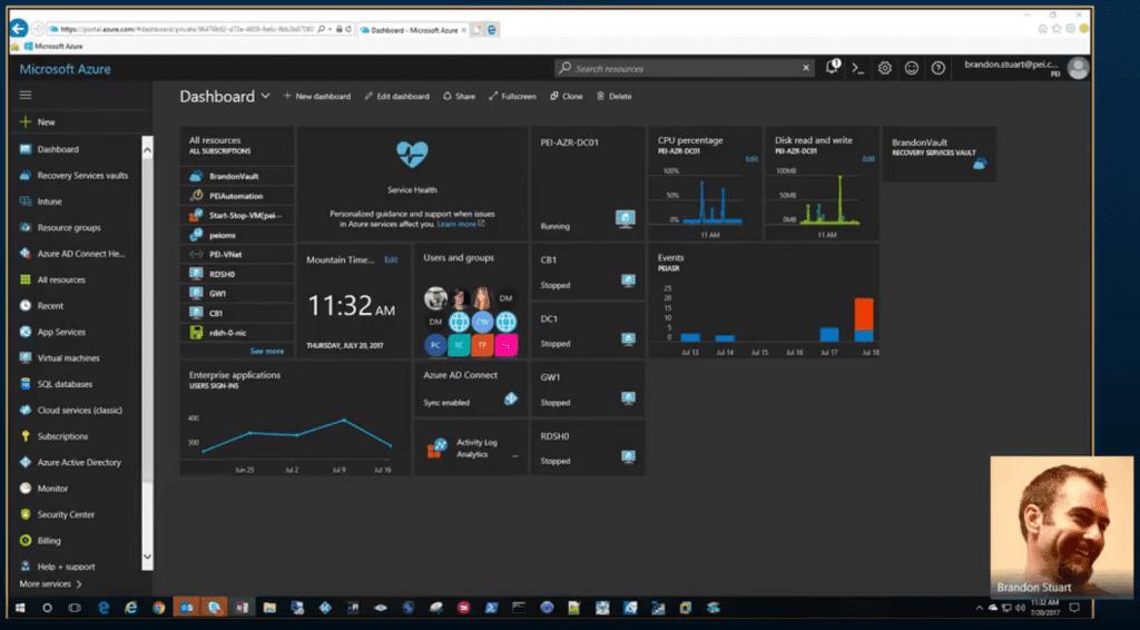 Azure Backup Server Portal Screenshot
