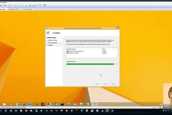 Azure Backup Deployment screenshot