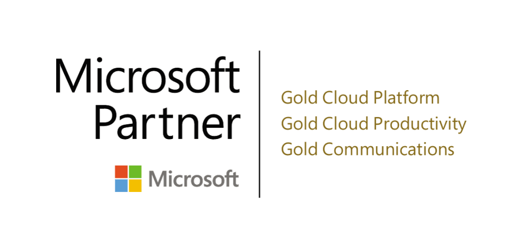 PEI 3 time Microsoft Gold Partner logo