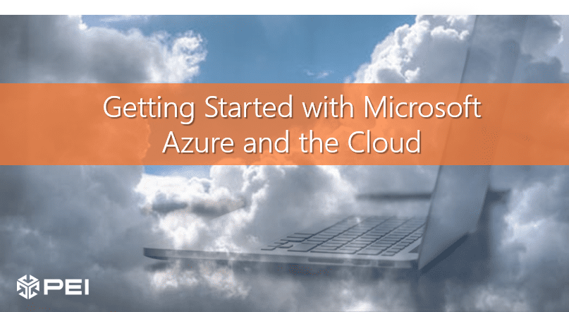 Getting started with Azure words on clouds