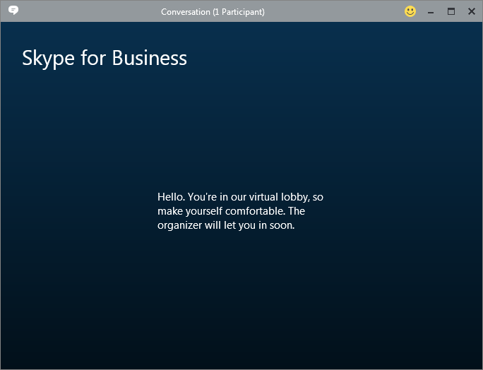 Skype for Business Meeting Lobby screenshot