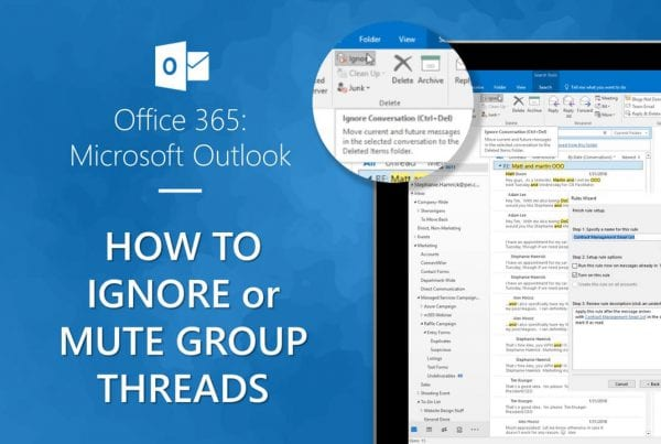 Mute Group Threads and groups messages in Outlook video cover