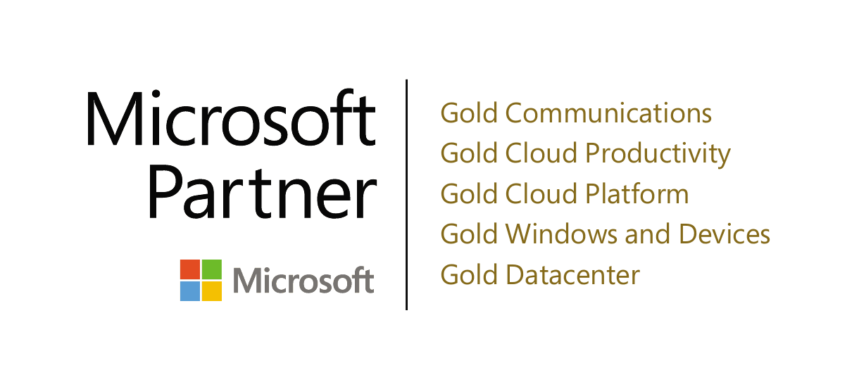 PEI 5 time Microsoft Gold Partner logo