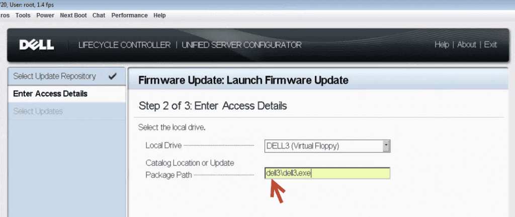 Dell Firmware Update Error SUP530