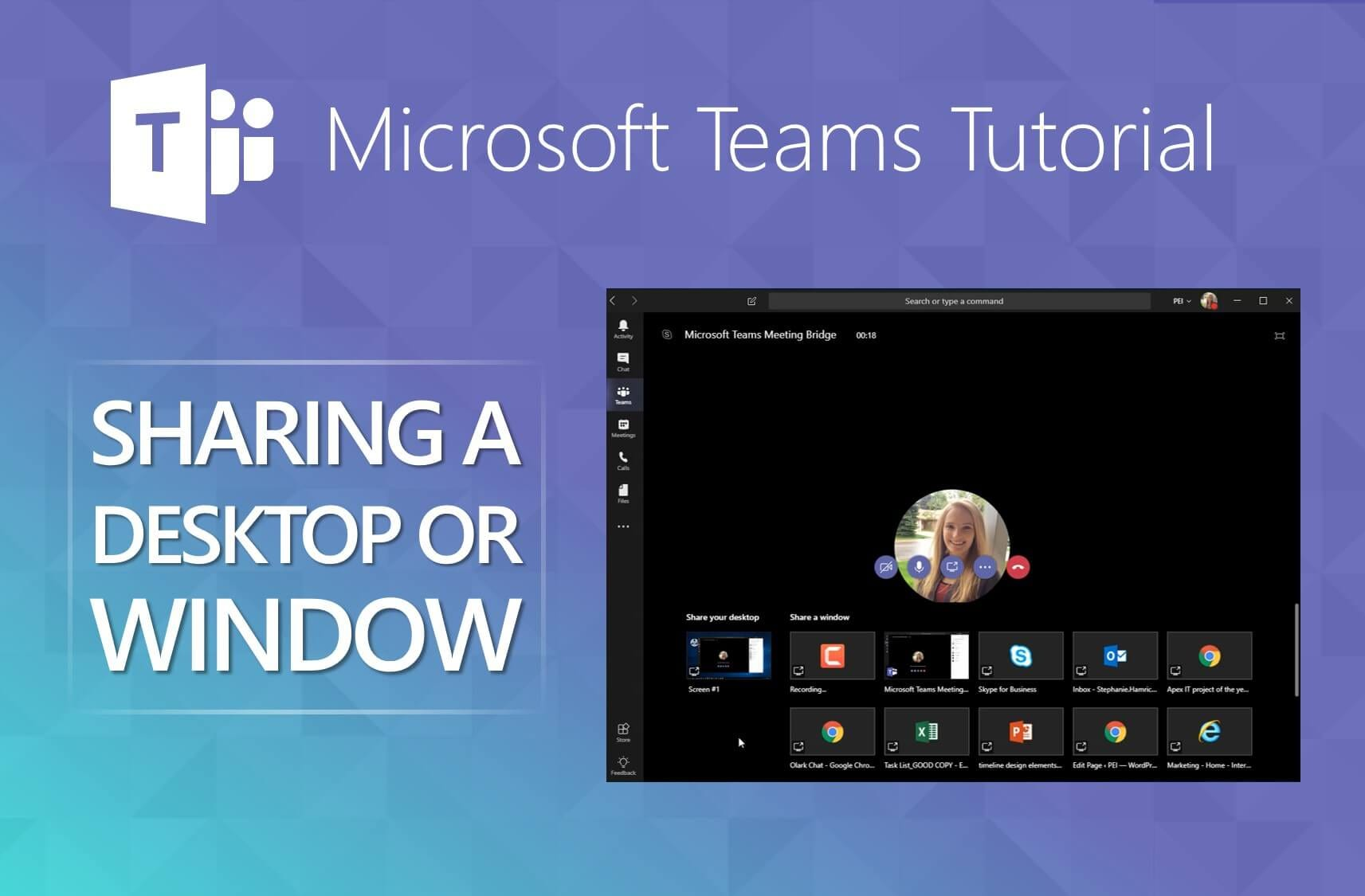 Microsoft Teams - How to Share a Desktop or Program - PEI