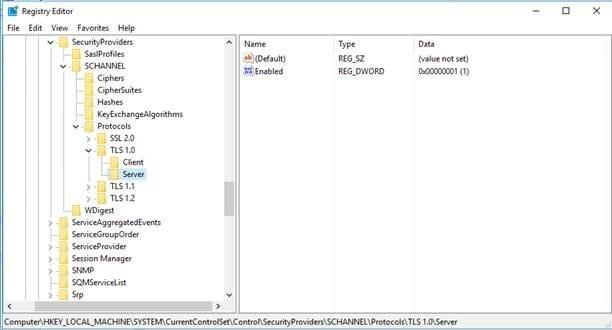 incorrect registry of server installation SCCM
