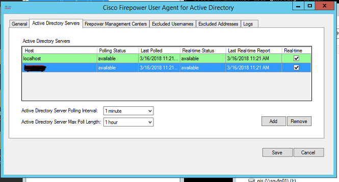 Cisco Firepower User Agent for Active Directory