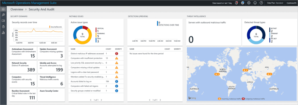 Microsoft operations Management Suite Security screenshot