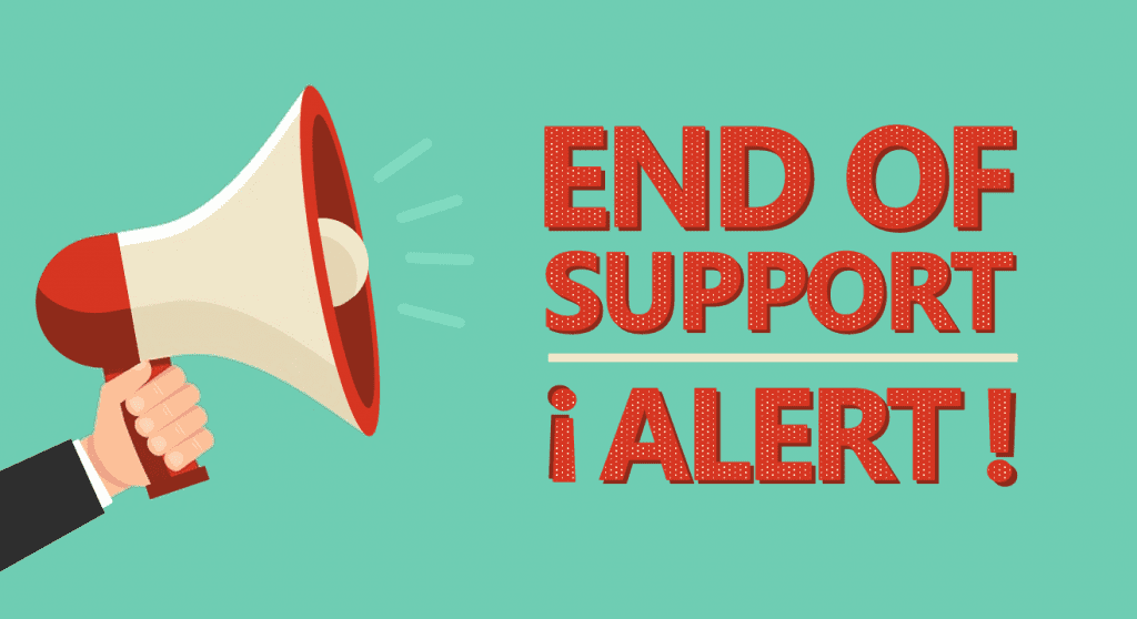 End of Support Graphic