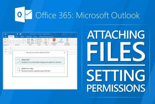 Outlook attach files
