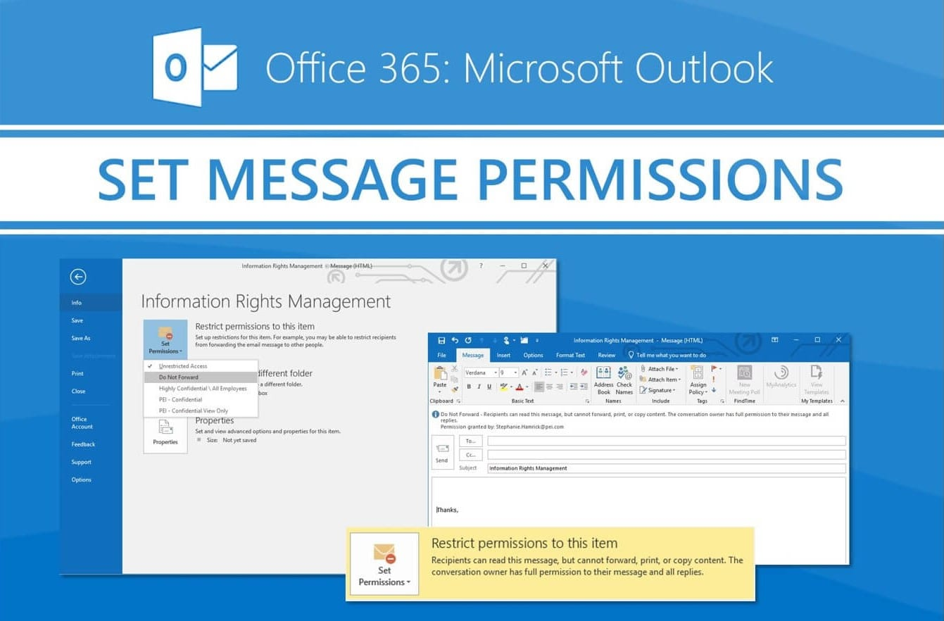 Office 365 - Setting Information Rights Management Policies