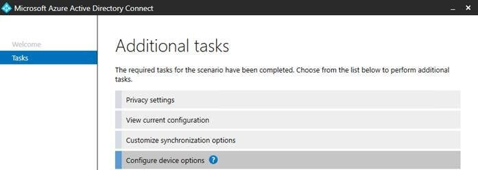 AADC New options for device sync