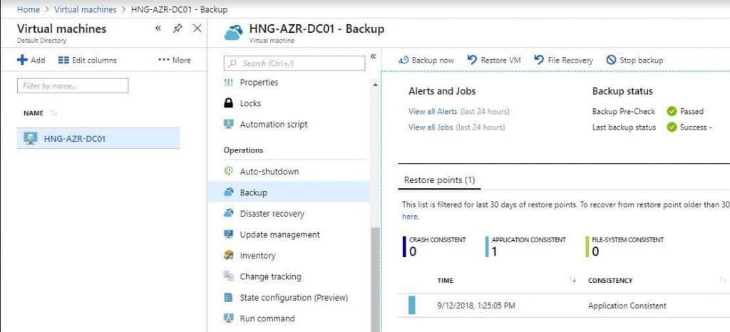 Azure Backup Portal