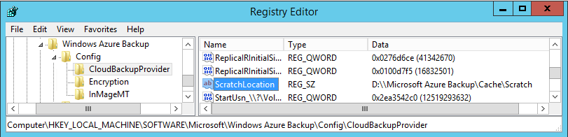 Azure Backup Scratch Location 2