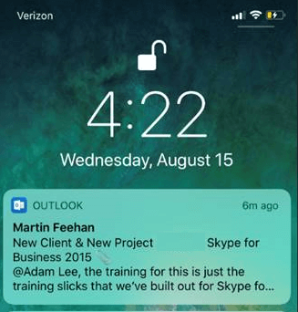Outlook mobile app mention feature preview