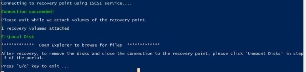PowerShell Session Azure Backup