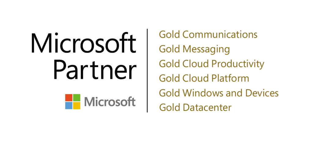 PEI 6 time Microsoft Gold Partner logo