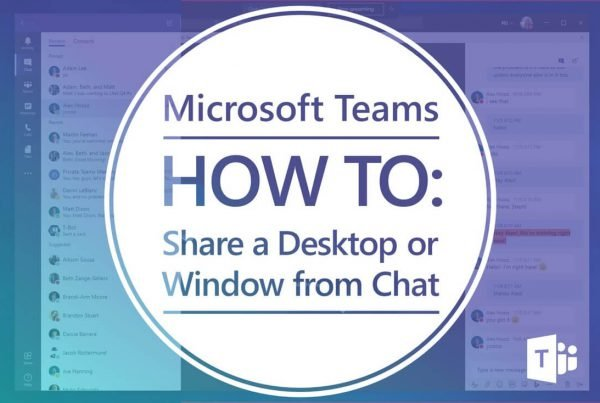 how to screenshare or share your desktop from Microsoft Teams chat