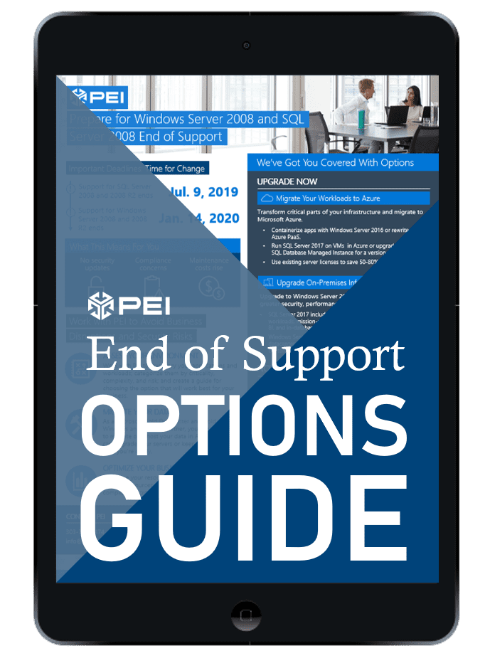 End of Support windows SQL 2008 guide preview