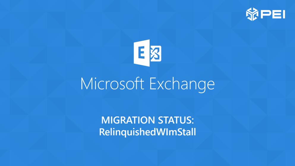 Microsoft exchange migration Relinquishedwlmstall