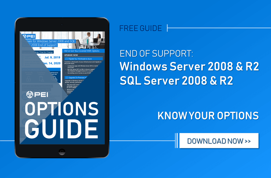 eGUIDE] Options for Windows and SQL Server 2008 End of Support