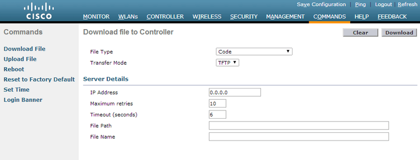 cisco Wireless LAN Controller Access Point Page
