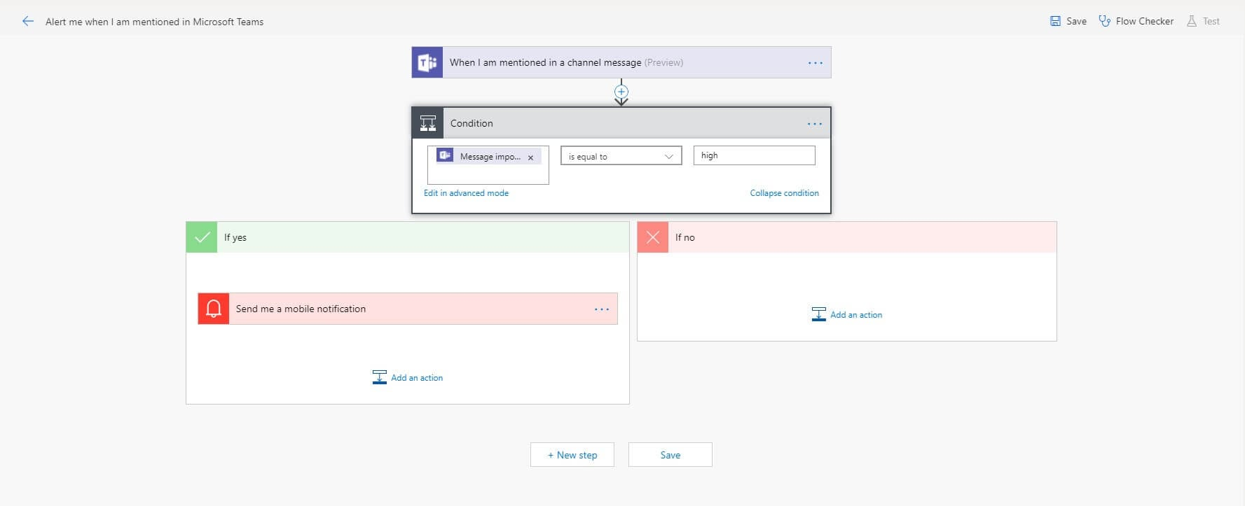 Building a Conditional flow in microsoft teams full plan