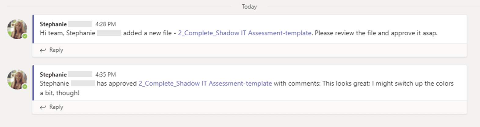Automatic message by flow in Microsoft Teams