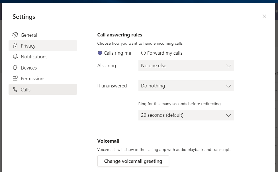 Microsoft Teams Record Voicemail Greeting