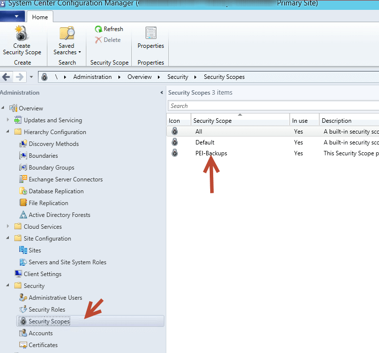 Create an SCCM Security Scope